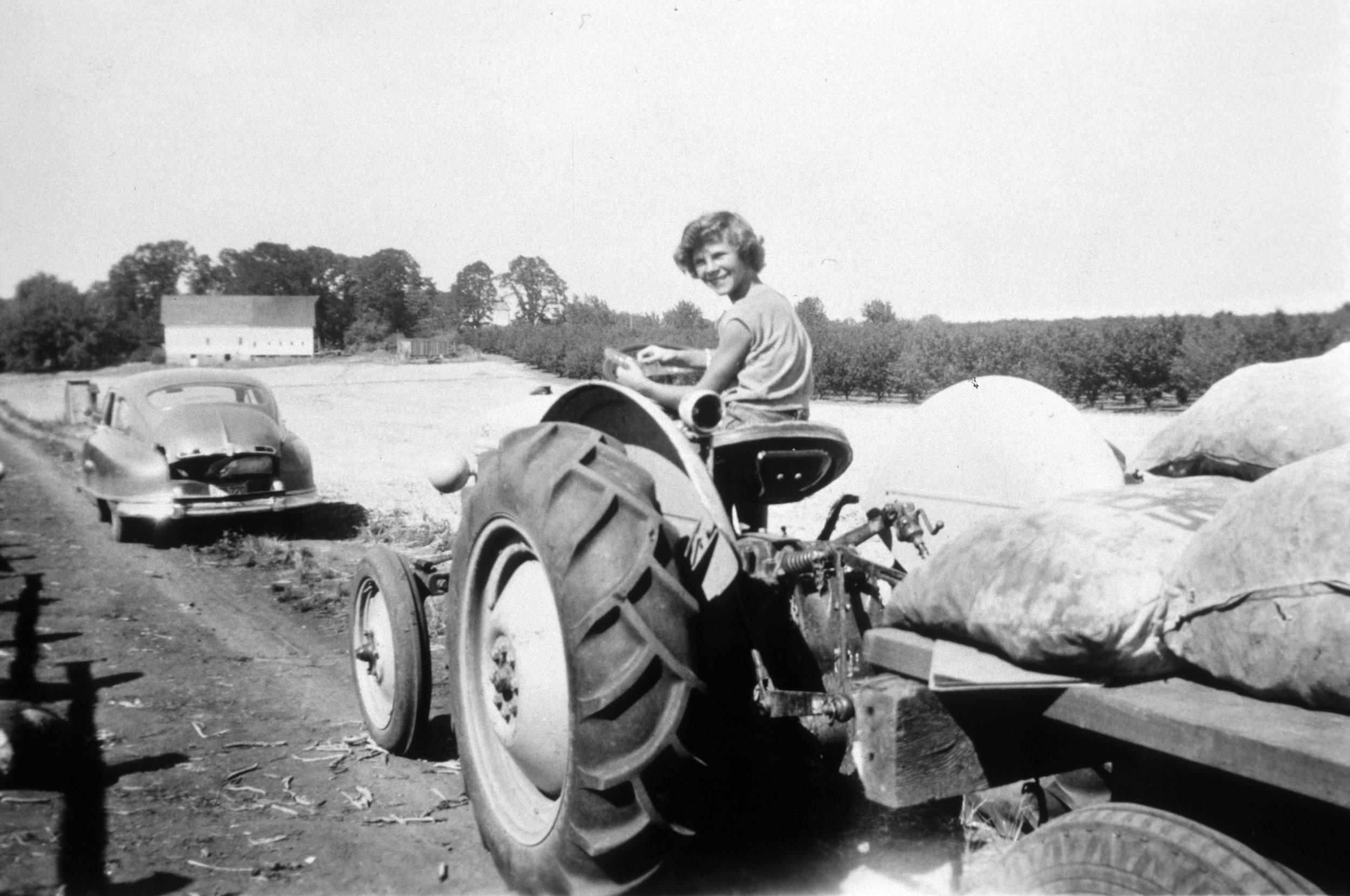 Leona Byer and her siblings worked hard at the family farm at the site we now know as Fernhill.