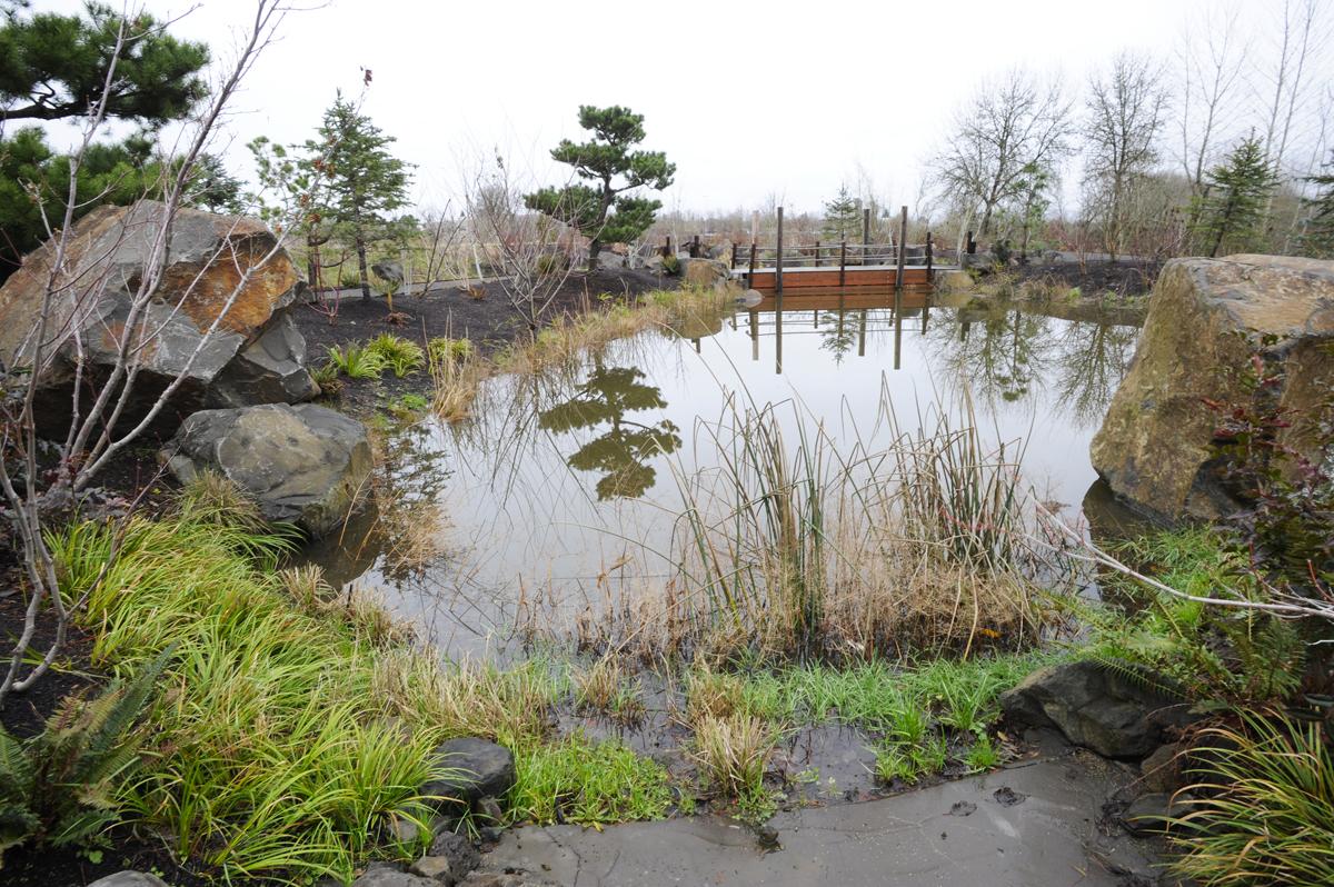 Water Garden  and Floating Bridge 2014