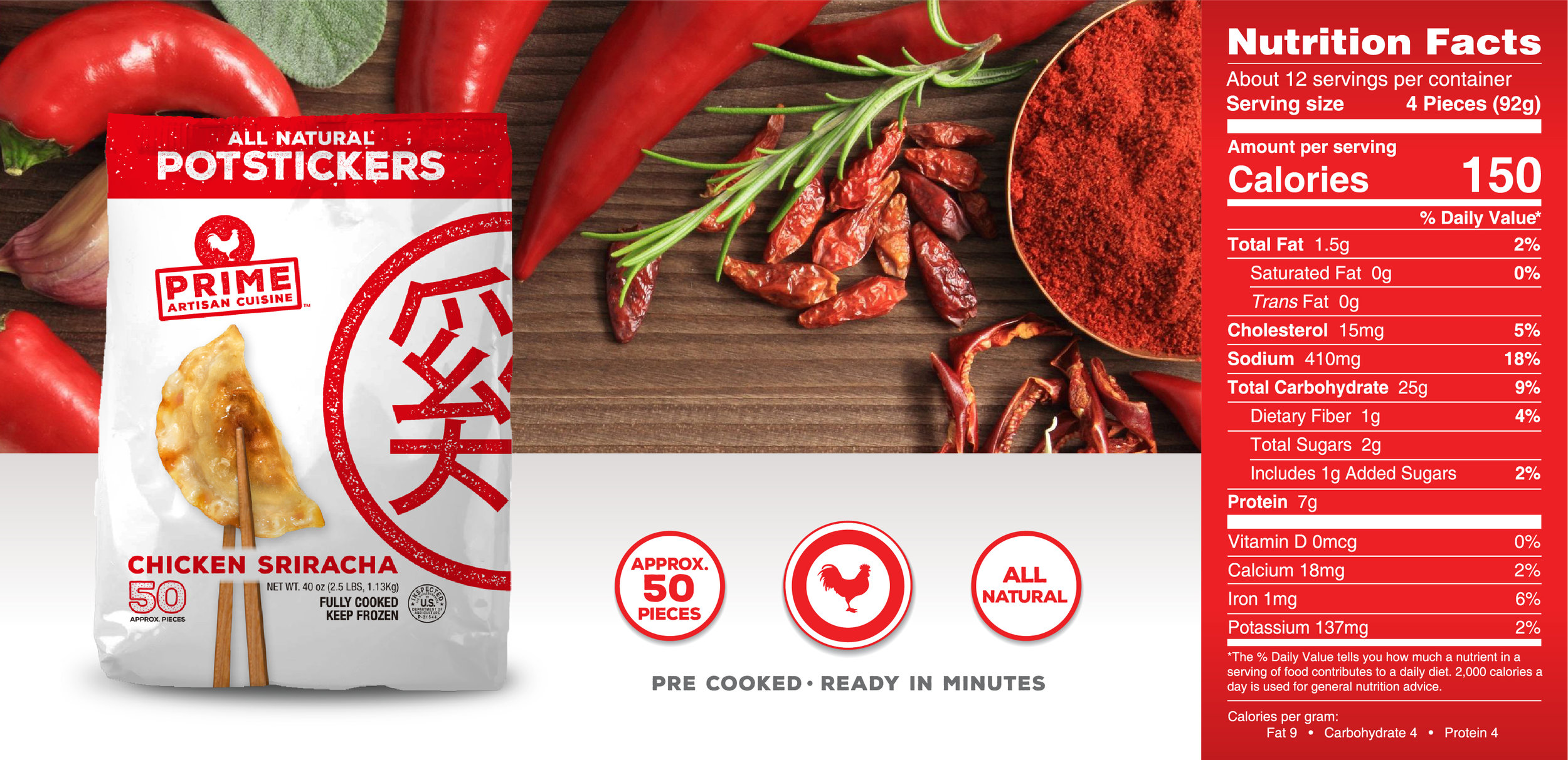 Prime Potsticker - Sriracha_Landing