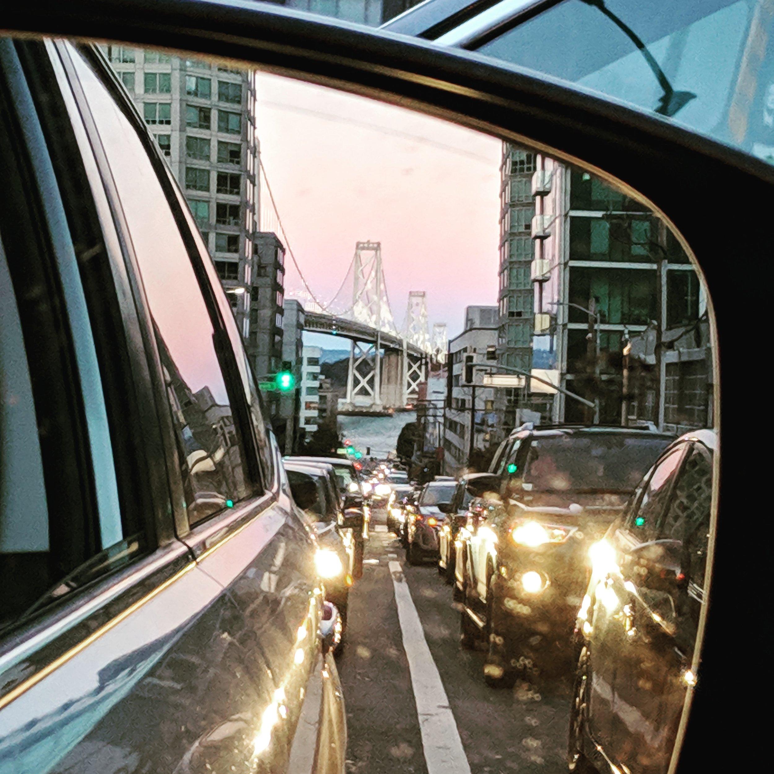 Bay Bridge in traffic