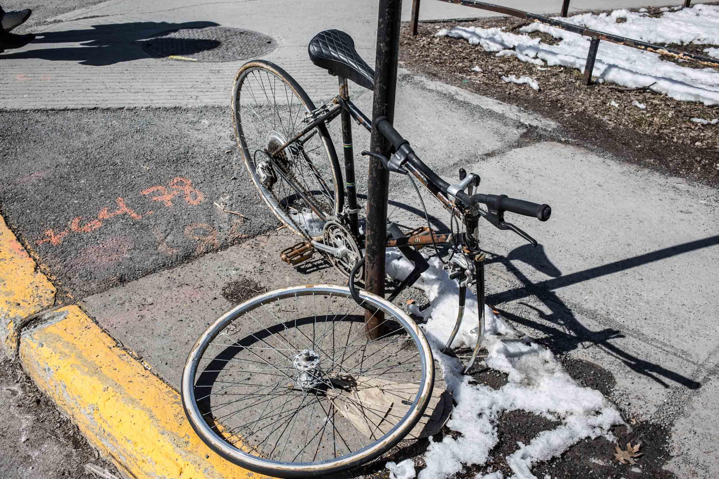 Montréal, Québec Canada, 20 mars 2018 - Vélo, vélo Photo Normand Blouin