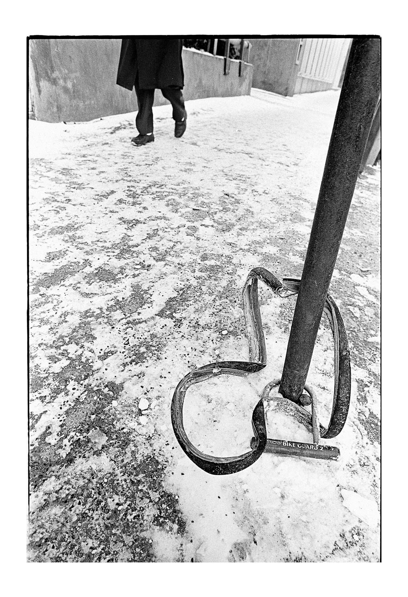 Série de photos sur les vélos abandonnés dans les rues de Montréal