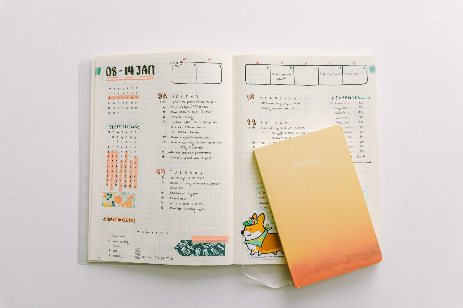 Plan ahead with your bullet journal!
