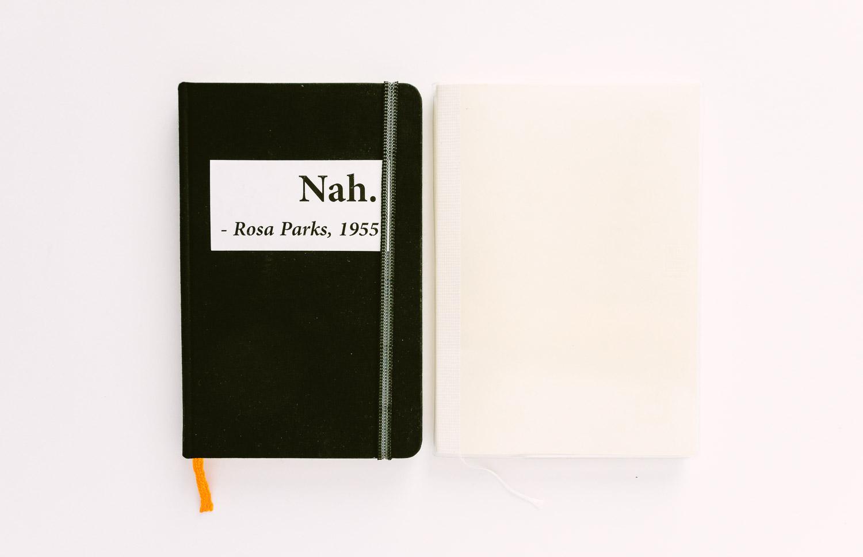 Global Art Hand Book Artist Journal (left) and Gridded Midori MD Paper Notebook (right)