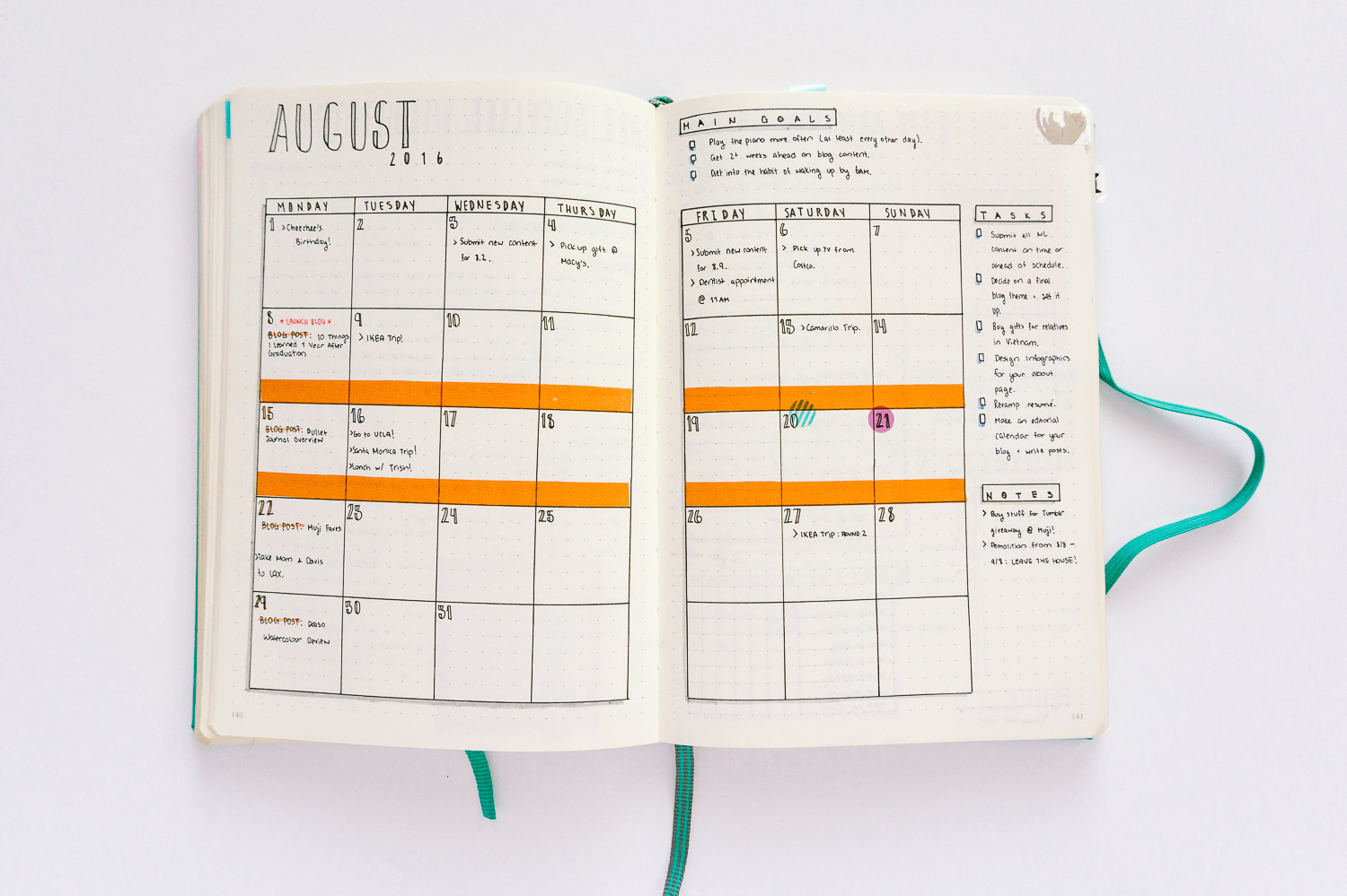 Now this just looks like a monthly spread in a planner... First and last time I tried this layout.