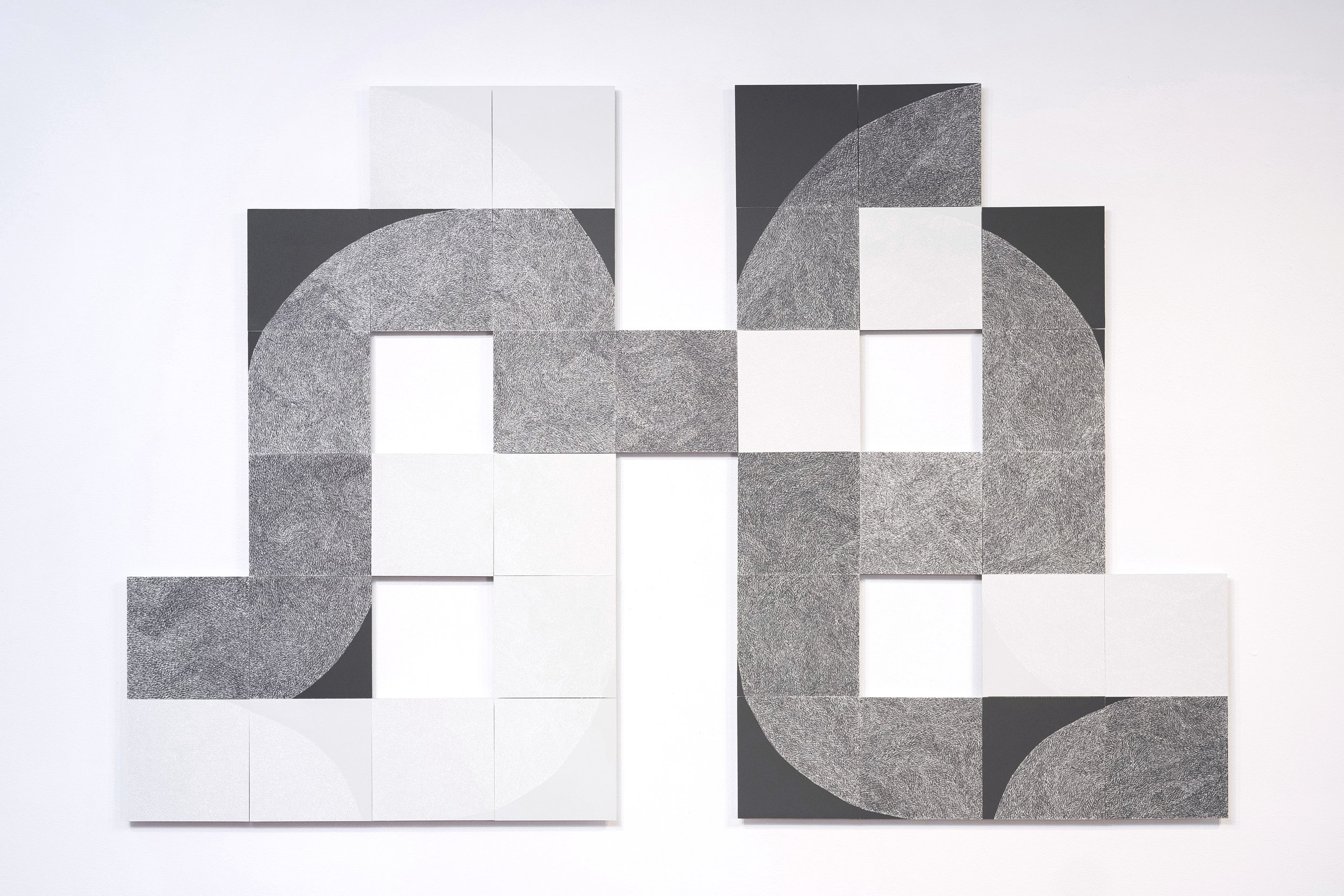 Circadian Drive  72x48 inches   pigment and x-acto blade