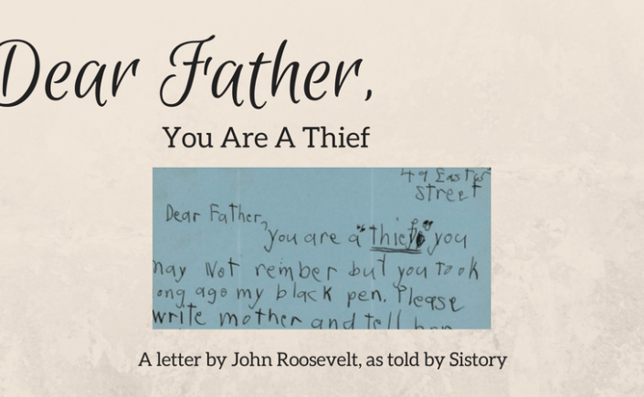 Dear Father, You Are a Thief - John Roosevelt was only five when his father contracted polio in 1921. The disease robbed the future president of the use of his legs and left him mostly wheelchair-bound. And John, the youngest child, was not having it.