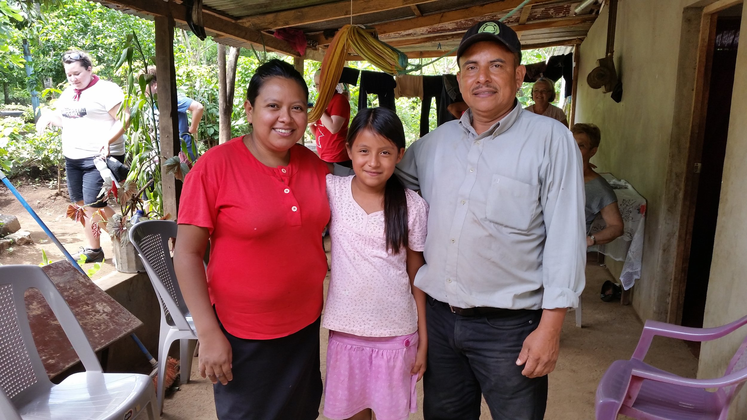 Pastor Pablo, with his wife Maribel and daughter Ann.