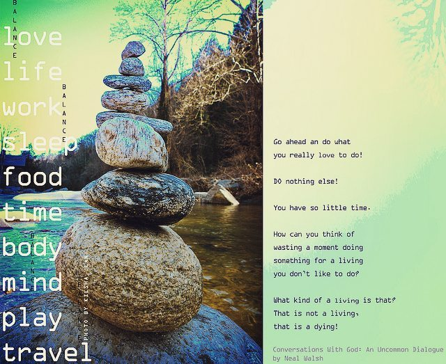 #balance #love #quote #riverRock