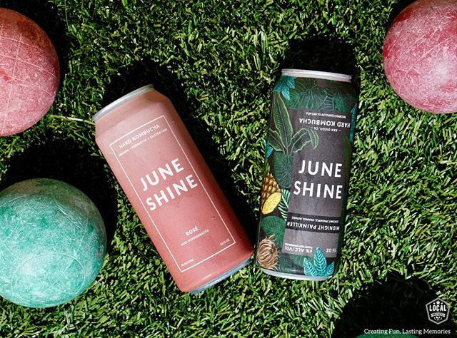 Make your bocce ball game even better with a little @juneshineco Hard Kombucha! ⠀⠀⠀⠀⠀⠀⠀ With a medley of awesome flavors @juneshineco is the perfect way to relax on the patio!