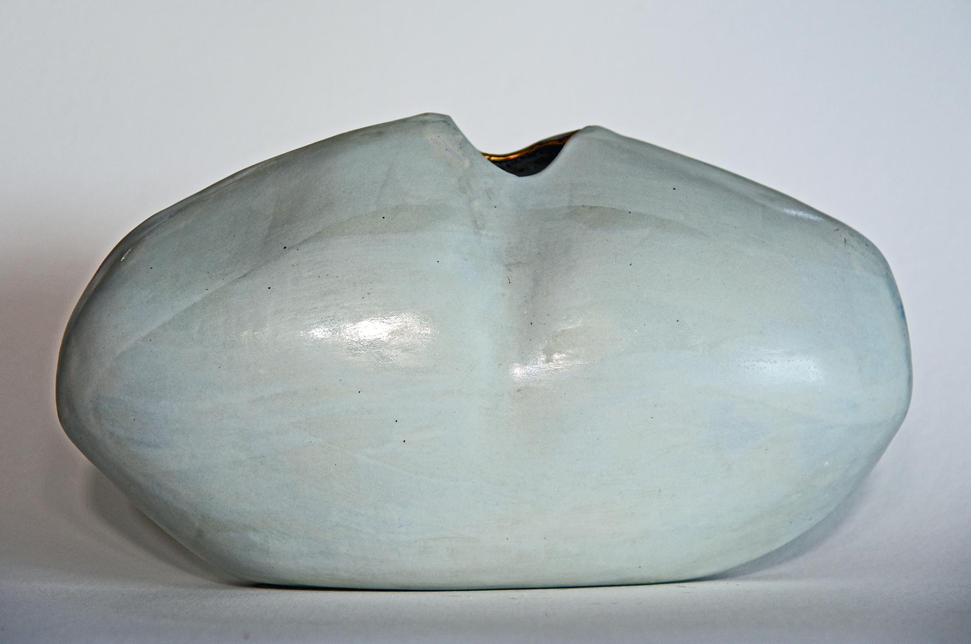 white oval vessel