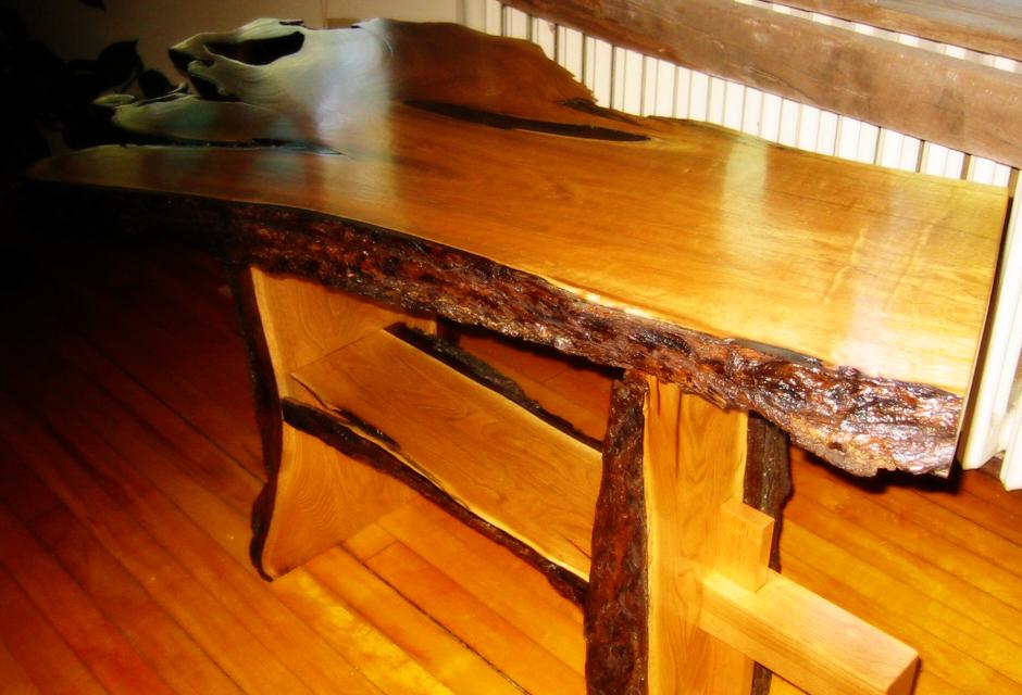 Burl Table - Butternut Slab Table - SOLD