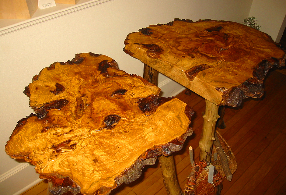 2-Piece Maple Burl High Table