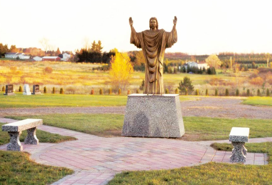 Risen Christ (Bronze Statue and Meditation Garden) Holy Rosary Catholic Cemetary, Medford, WI