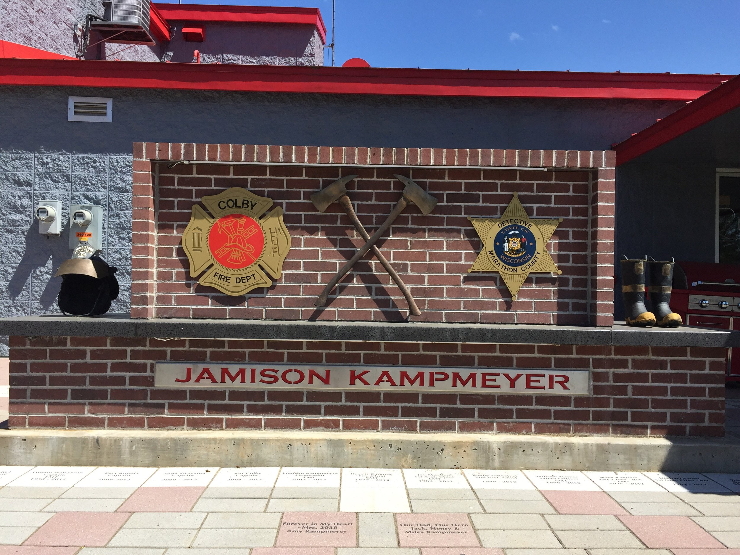 Jamison Kampmeyer Memorial Wall, Colby, WI