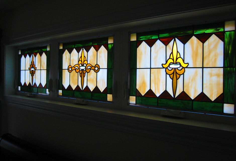 Stained Glass Triptych - Smith Home, Merrill, WI
