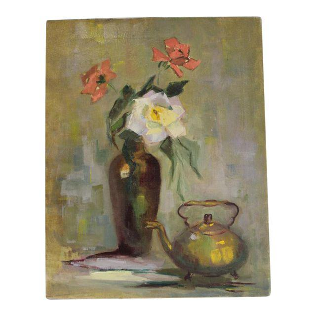 Oil Painting of a Floral Still Life, SOLD