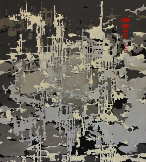 """""""WATERBED"""", 42"""" X 36"""", O/C, 2012"""