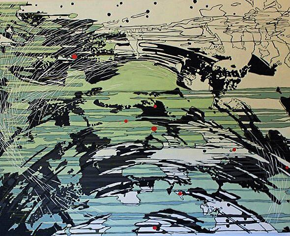 """WETLANDS"", 48"" X 60"", O/C, 2013"