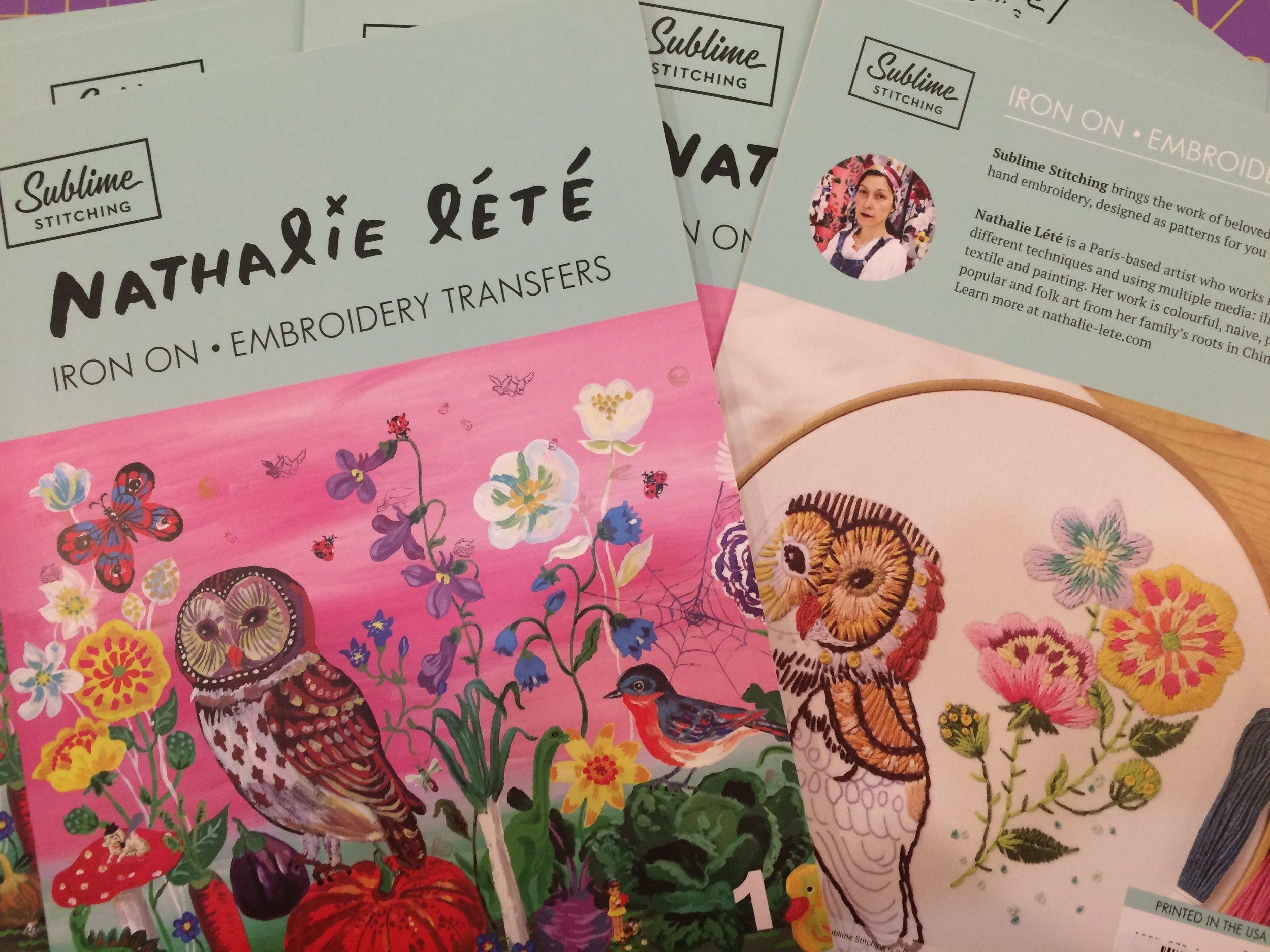 Sublime Stitching's new artist portfolio by Nathalie Lété