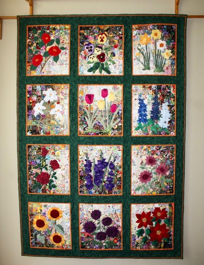 Sue's Rachel's Garden wall Quilt