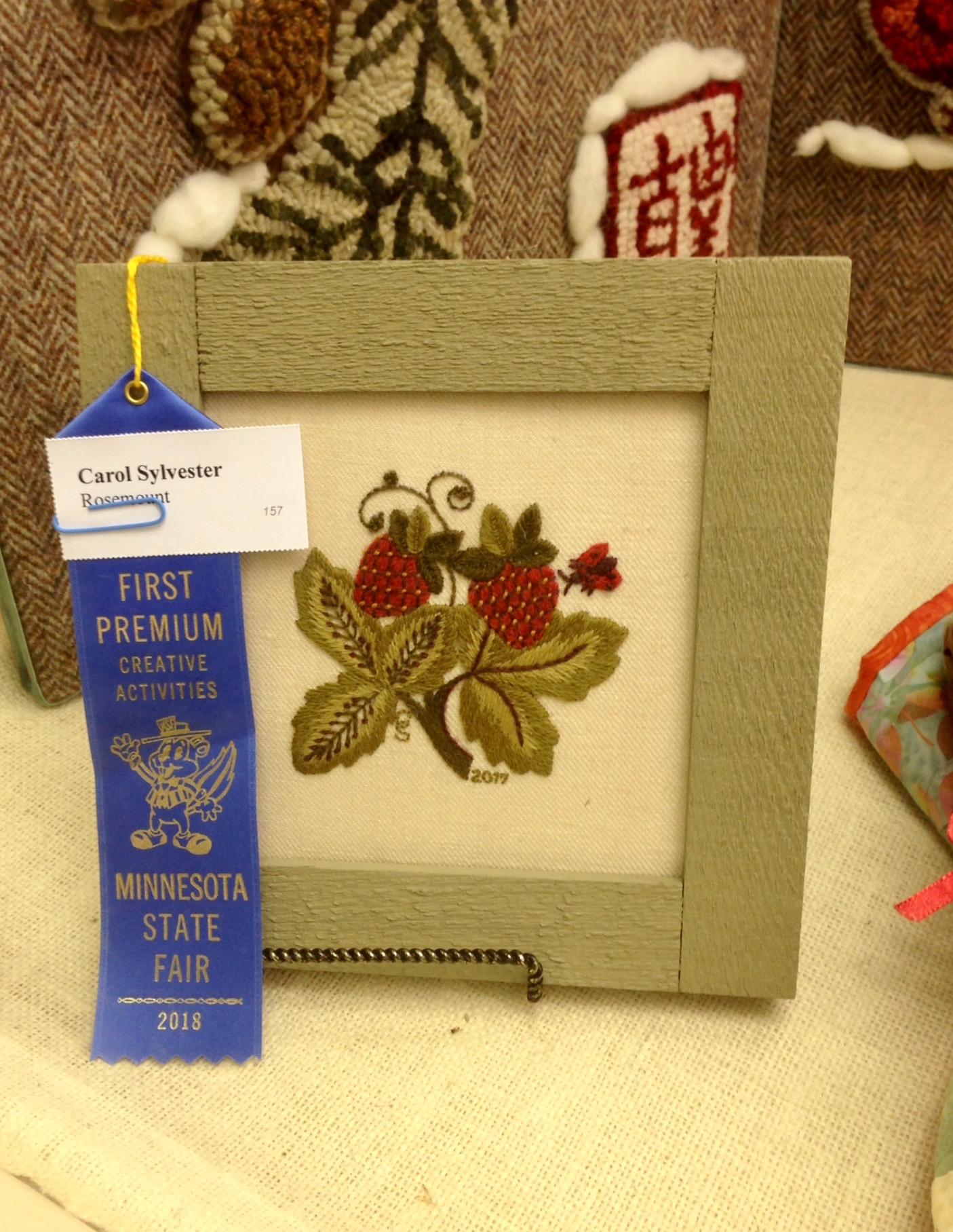 Carol's Jacobean Strawberries by Sue Hawkins