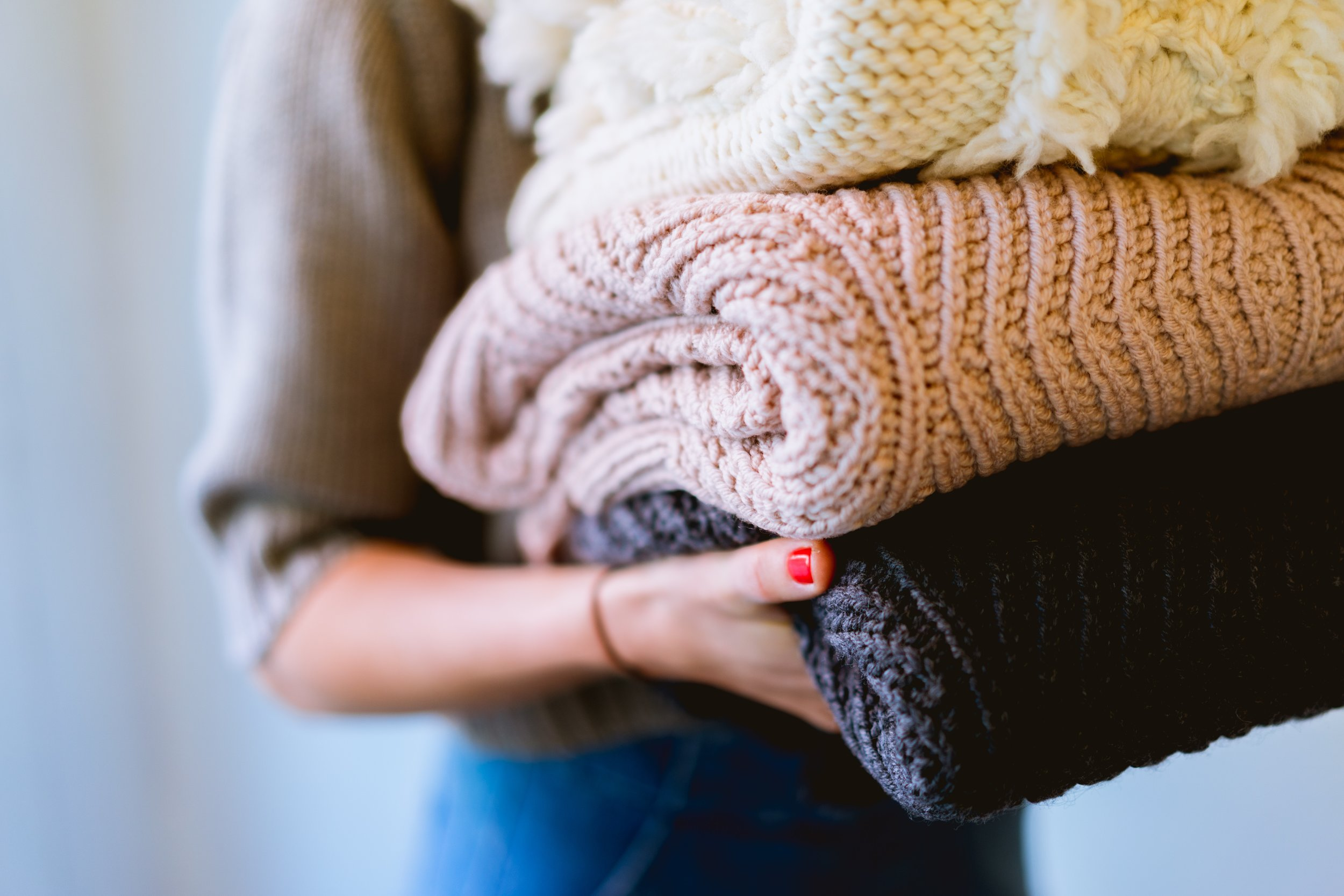 Time to bust out the BIG KNITS - sweaters, shawls, scarfs, cardigans, ect