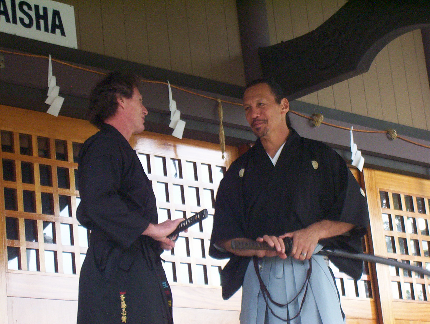 Master Maui Saito & Sensei Daron Brotherton, his highest ranked black belt student and instructor.