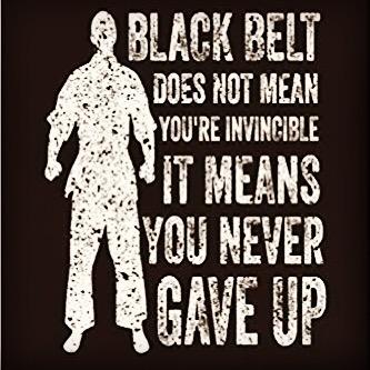 How do you never give up? What are you a black belt in? We're not just talking martial arts but also business, being a parent, entrepreneur... #martialarts #martialartstraining #dojolife #blackbelts #saitobloodlineninjitsu #mastermaui #ninjitsu #martialartquotes #selfdefense #nevergiveup