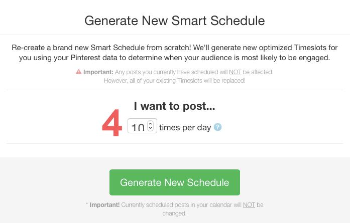 Generate New Smart Schedule in Tailwind
