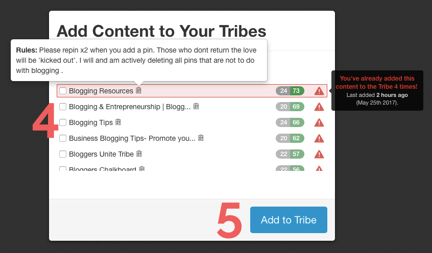 Adding content to Tailwind Tribes