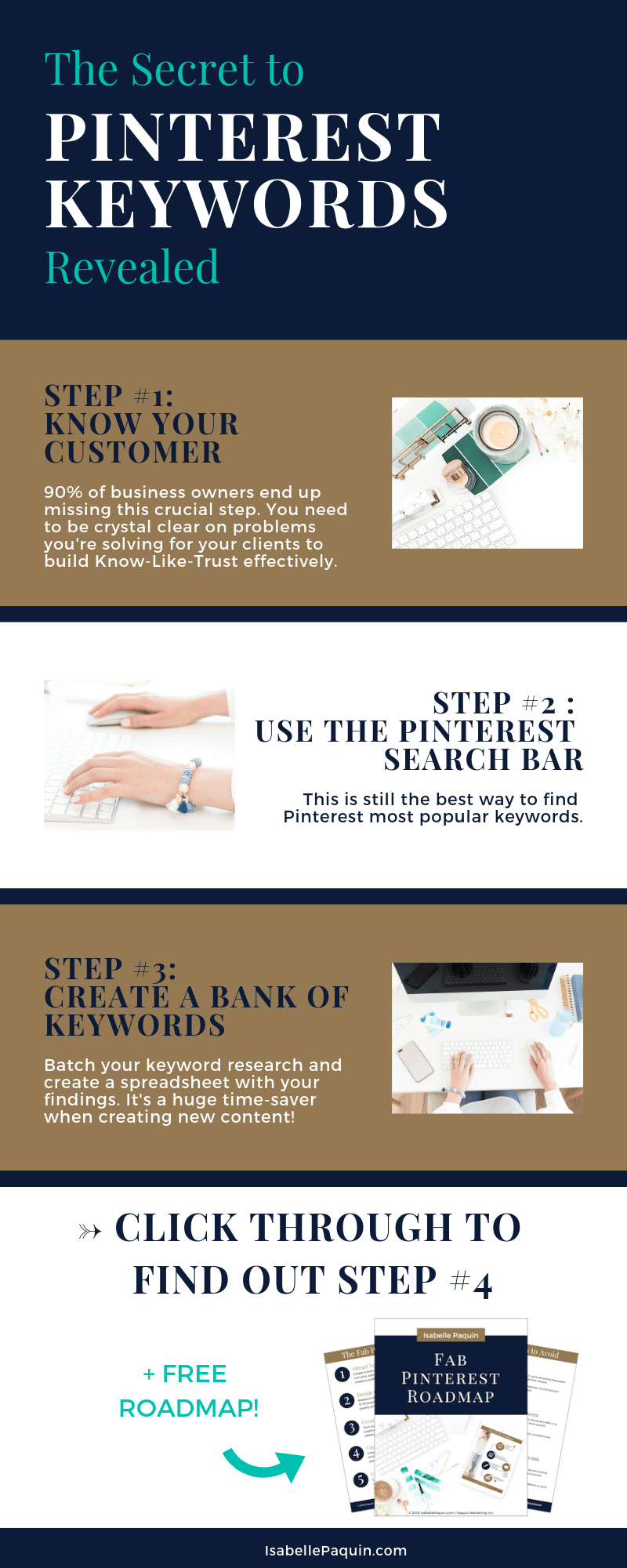 How to research Pinterest keywords the RIGHT way, so you can attract more quality leads to your small business using the power of social media. #pinterestmarketing #isabellepaquin