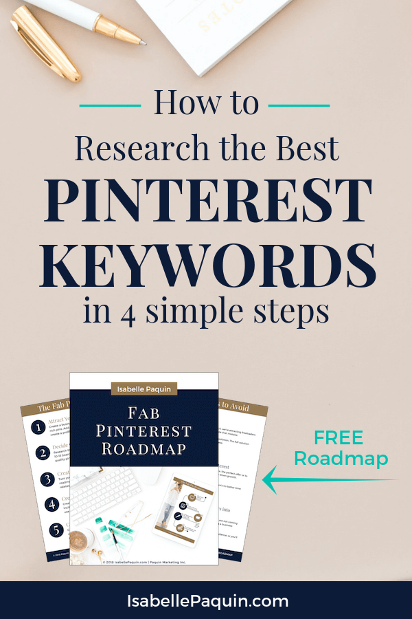 How to research the best Pinterest keywords in 4 simple steps, so you can attract more quality leads to your small business using the power of social media and Pinterest SEO. #pinterestmarketing
