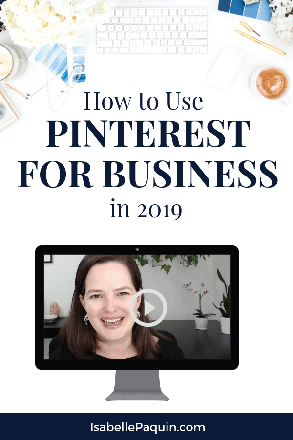 Find out how to use Pinterest for growing your business in 2019. Learn the 3 tips every entrepreneur needs to know to make money using Pinterest and drive traffic to your website. Includes a FREE Pinterest Guide to help you use it successfully. #howtousepinterest #pinterestmarketing #isabellepaquin