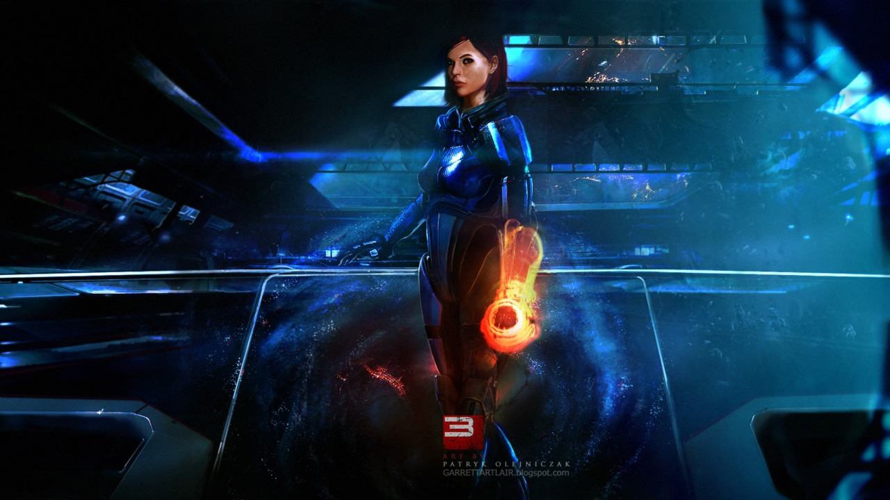 For some reason this one looks just like my FemShep (by Patryk Garrett)