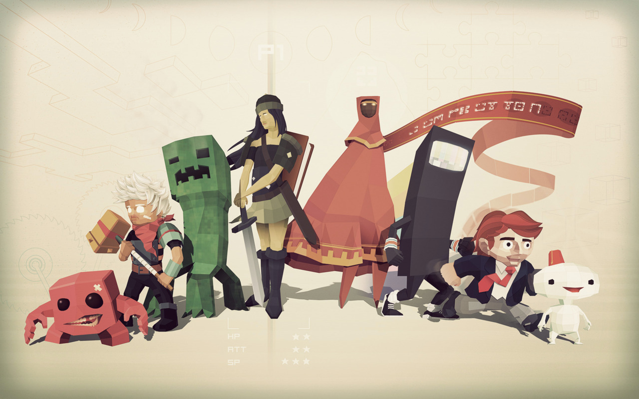 Steve Courtney's ode to indie games! Check the  link  for various wallpaper sizes.