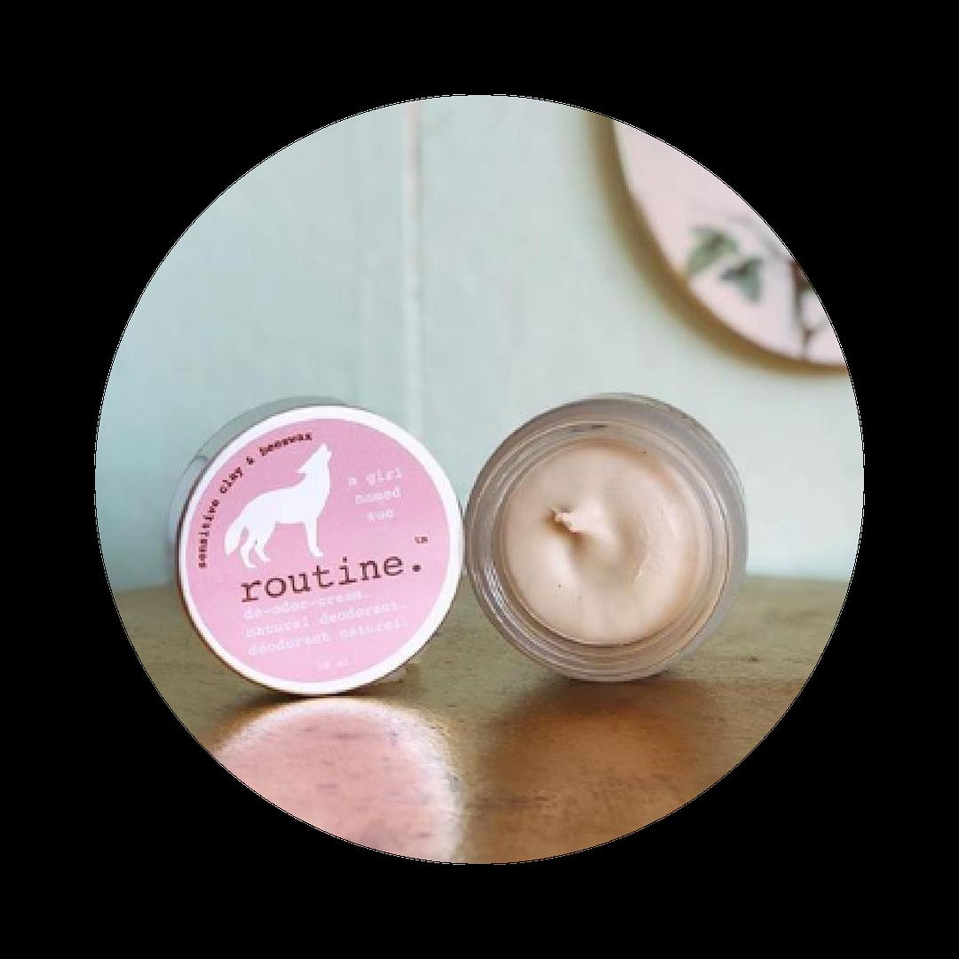 routine. Natural Deodorant -