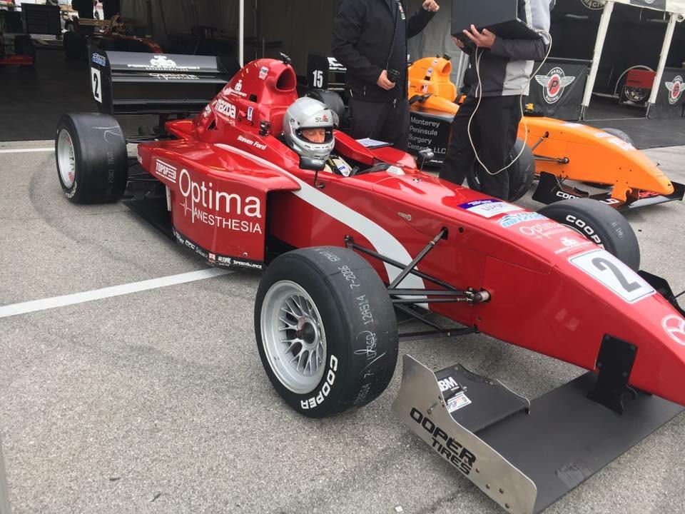 Indy Steve car leaving tent.JPG