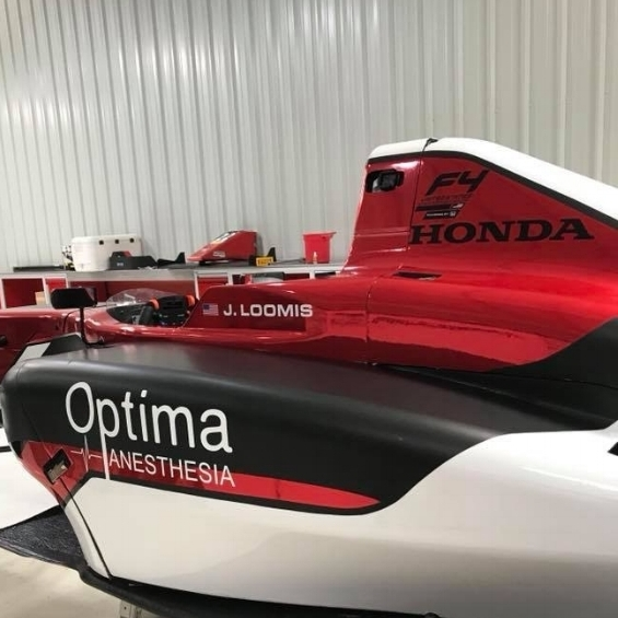 Jacob Loomis #21F4 US Championship - The Optima Anesthesia Formula 4 driven by Jacob Loomis on the Abel Motorsports Team will be racing this weekend at Virginia International Raceways in the 2018 F4 U.S. Championship with all races shown on Mavtv and streamed live on the web
