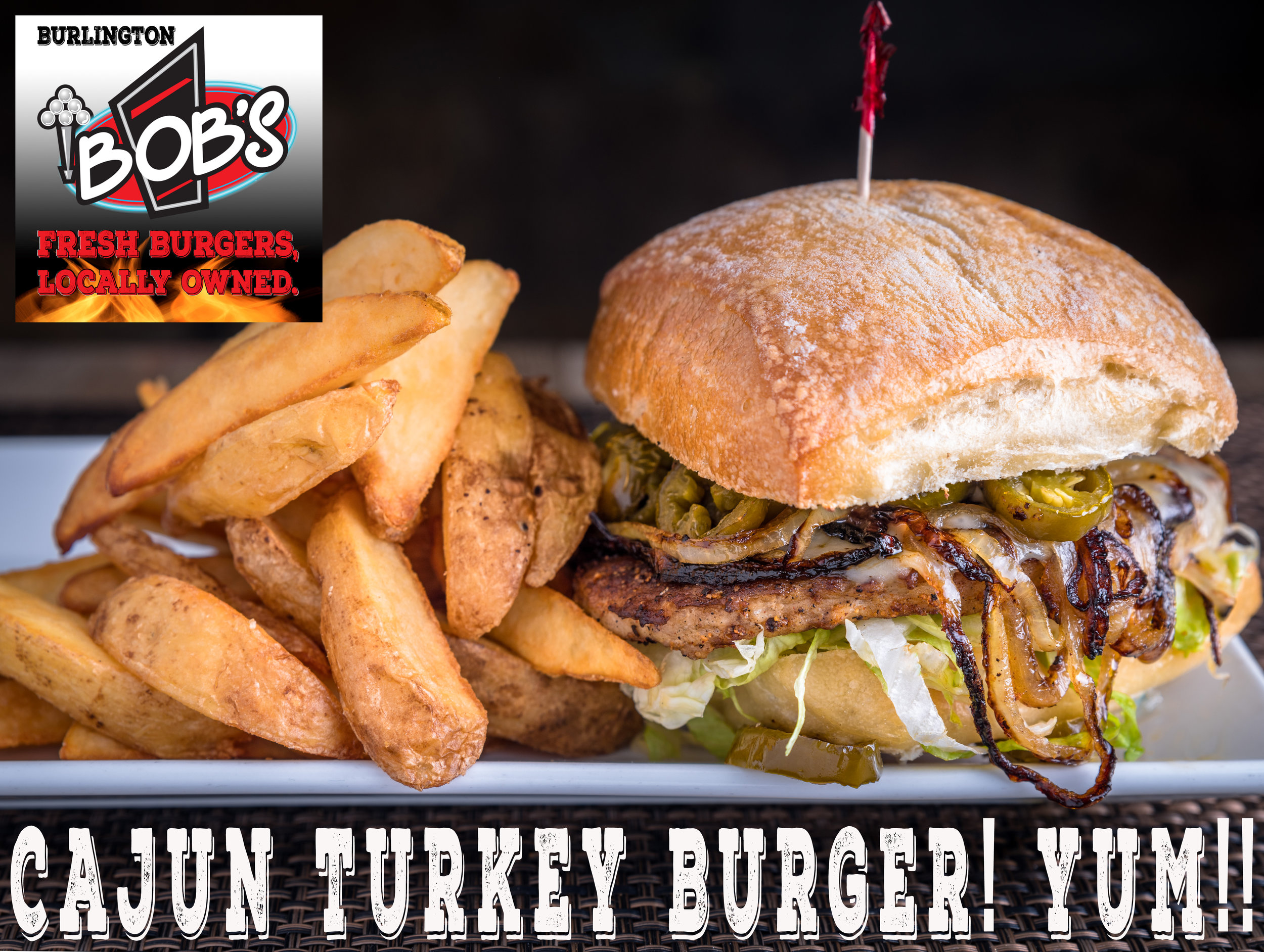 Have you tried one of our four great gourmet Turkey Burgers yet? Tangy, sweet, savory or spicy, we've got you covered!