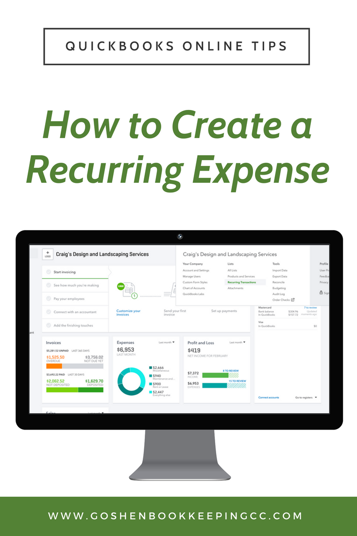 How to Create a Recurring Expense in QuickBooks Online