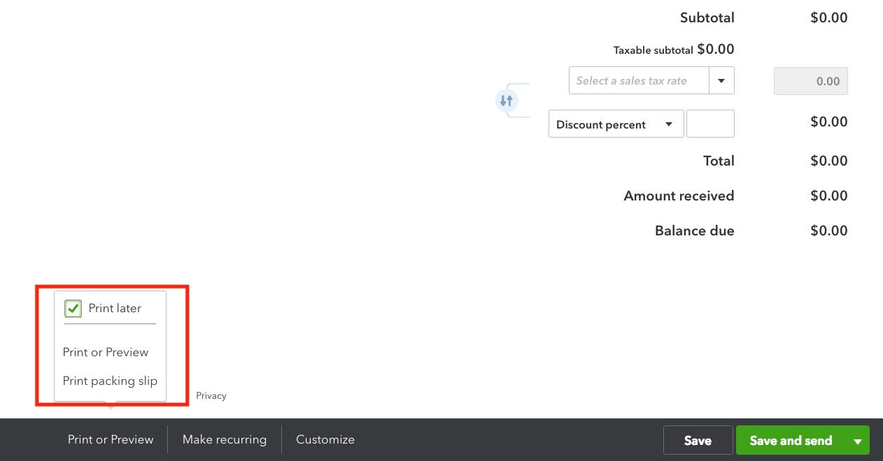 QuickBooks Online Sales Receipt Print Options.png