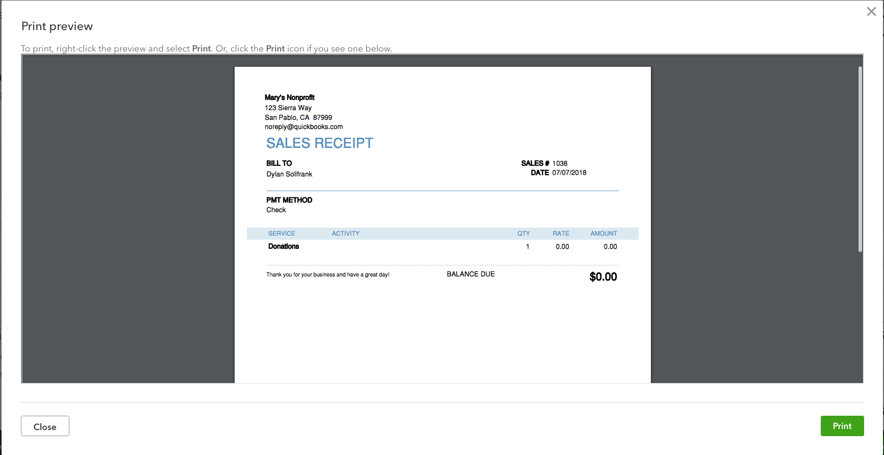 How To Create A Sales Receipt In Quickbooks Online