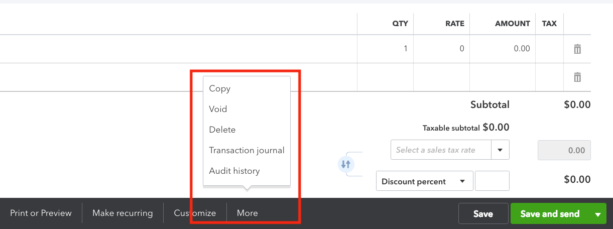 QuickBooks Online Sales Receipt More Options.png