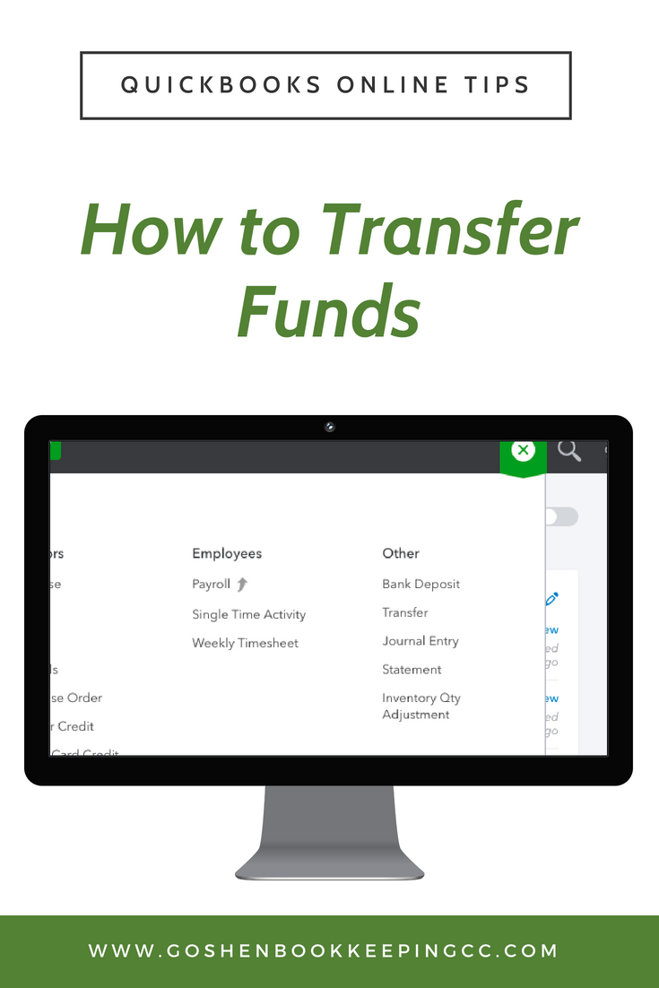Transfer Funds In Quickbooks Online