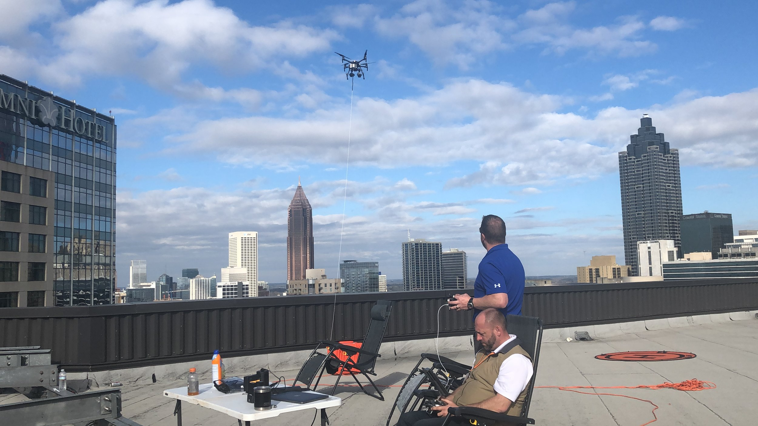 Skydas Group International monitoring the UAS data streams to identify potential public safety issues.