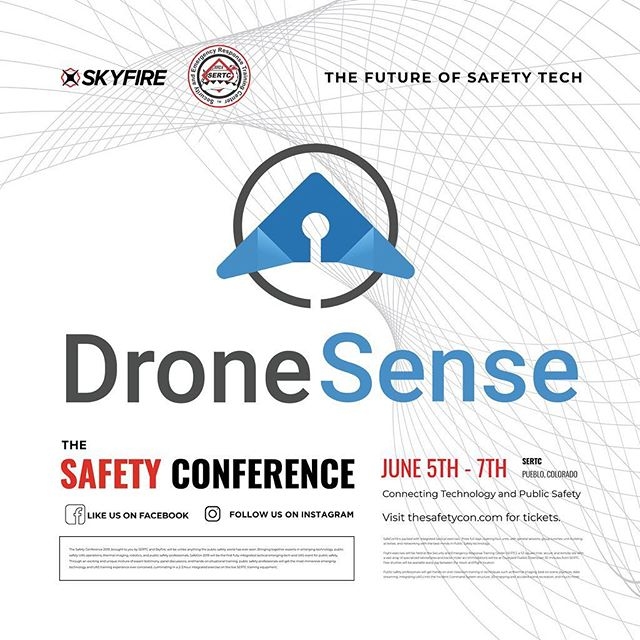 Can't wait to see what sort of drone streaming craziness @dronesense come up with for #SafeCon19. Get your early bird tix now at the link in bio! * * * #drone #drones #dronestagram #publicsafety #policewife #firewife #thinblueline #thinredline #firstresponders
