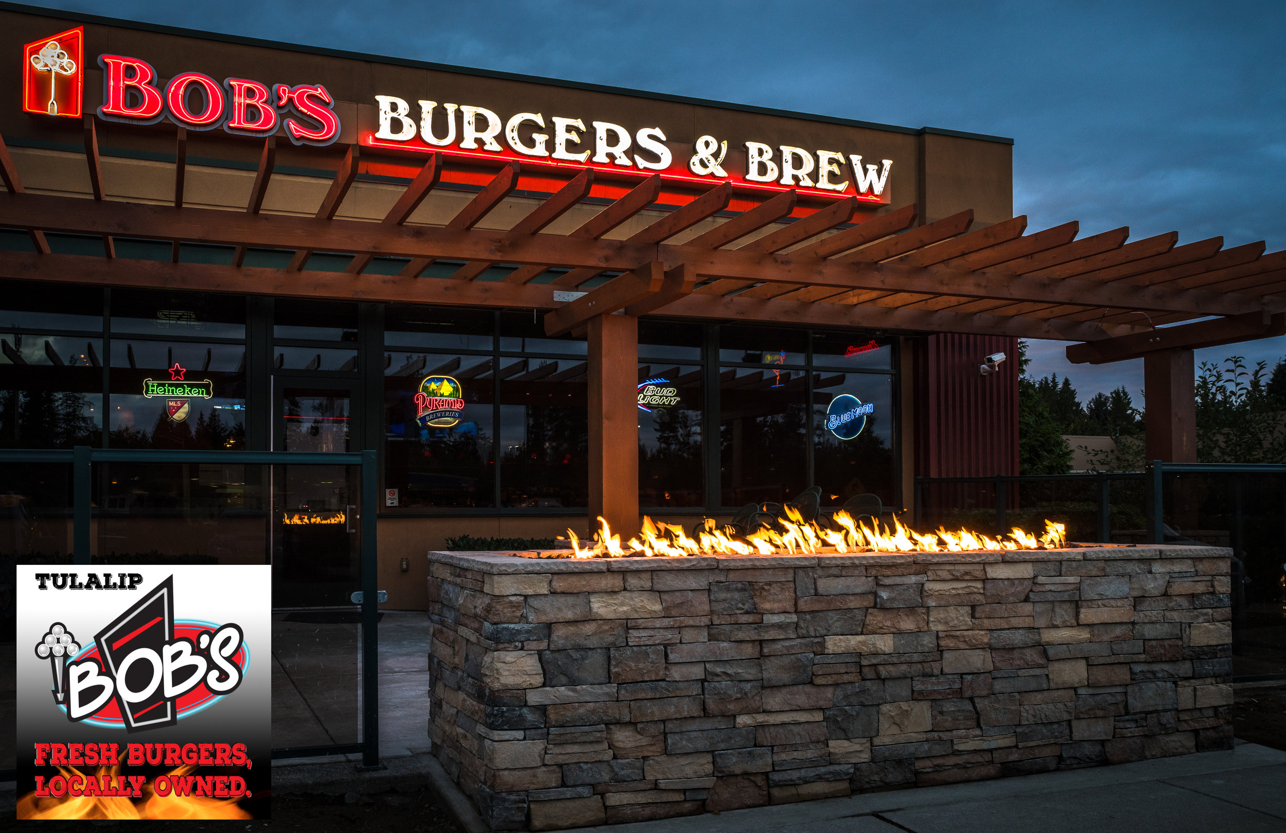 After months of planning, approvals and construction, our new flame deck is fired up and ready! Located on our Lounge side, expect to enjoy it when weather permits!