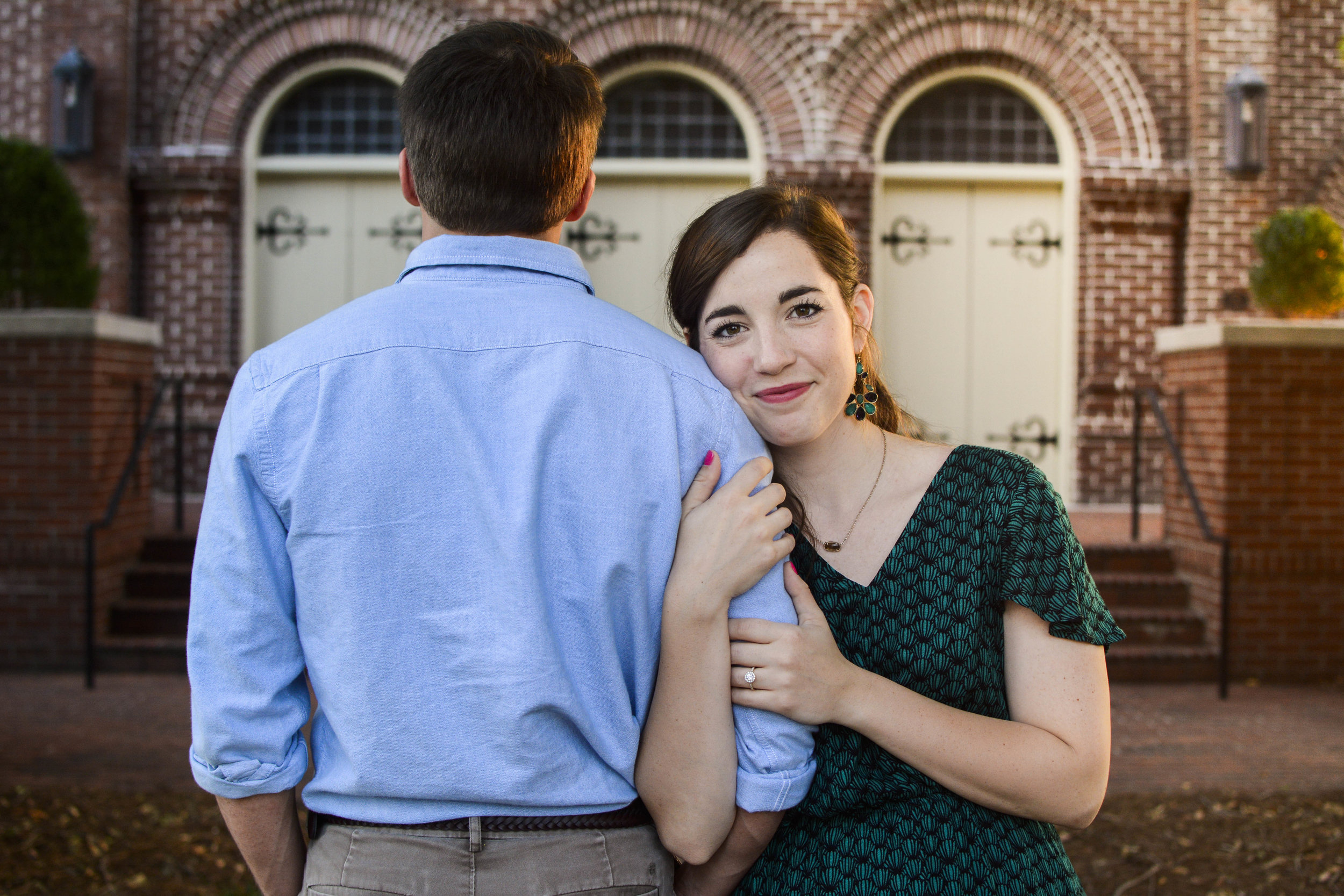 downtown Rock Hill engagement photo