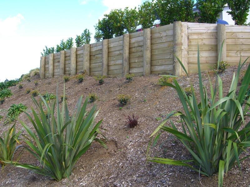 (11) Standard timber retaining wall